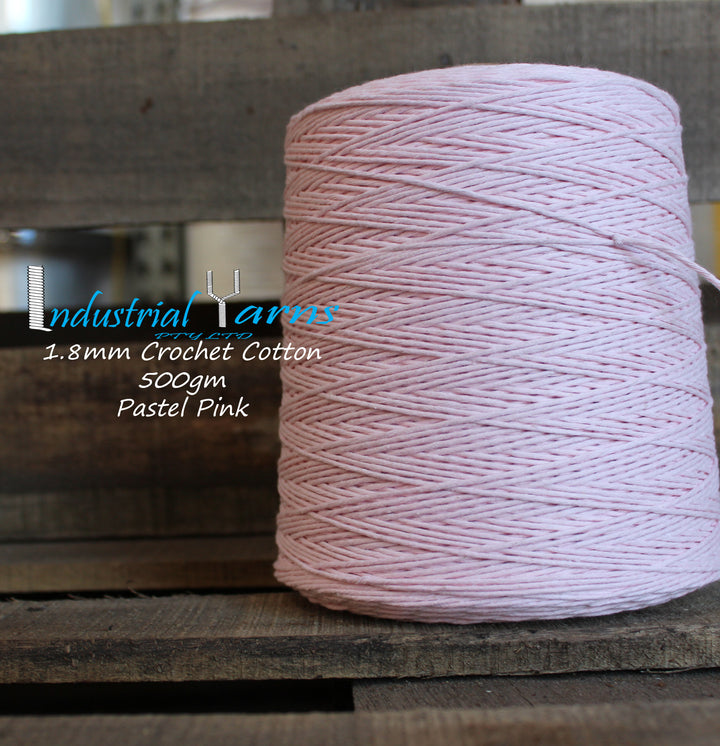 1.8mm Twisted Cotton Pastel Pink
