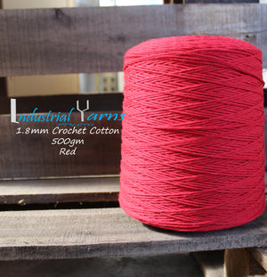 1.8mm Twisted Cotton Red