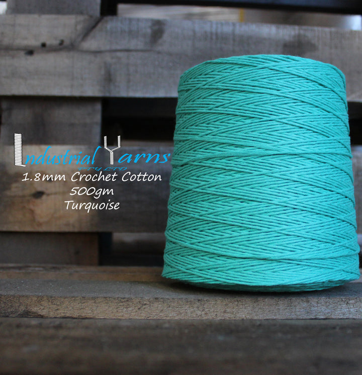 1.8mm Twisted Cotton Turquoise