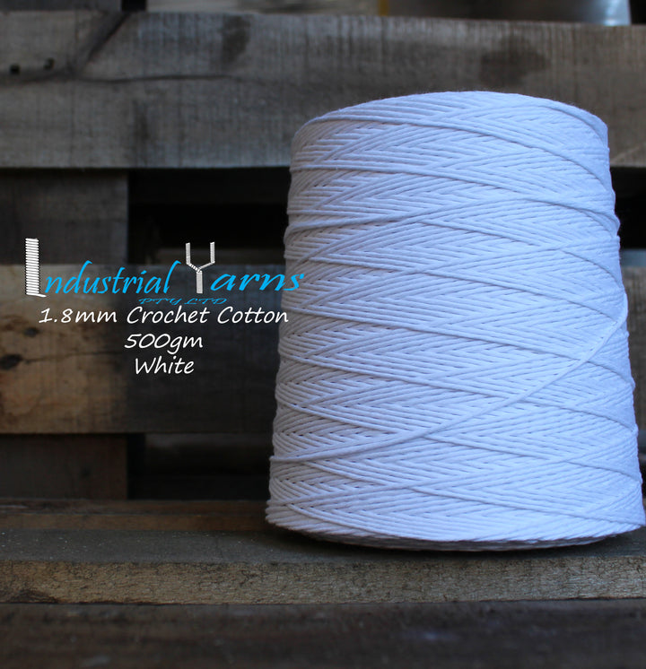 1.8mm Twisted Cotton White