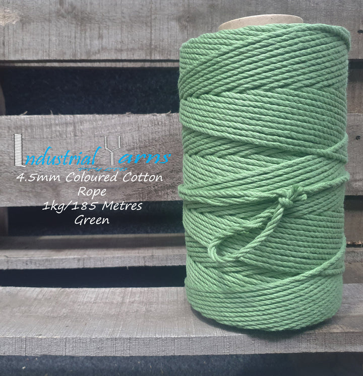 4.5mm Twisted Rope Green