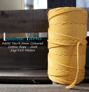 4.5mm Twisted Rope Gold