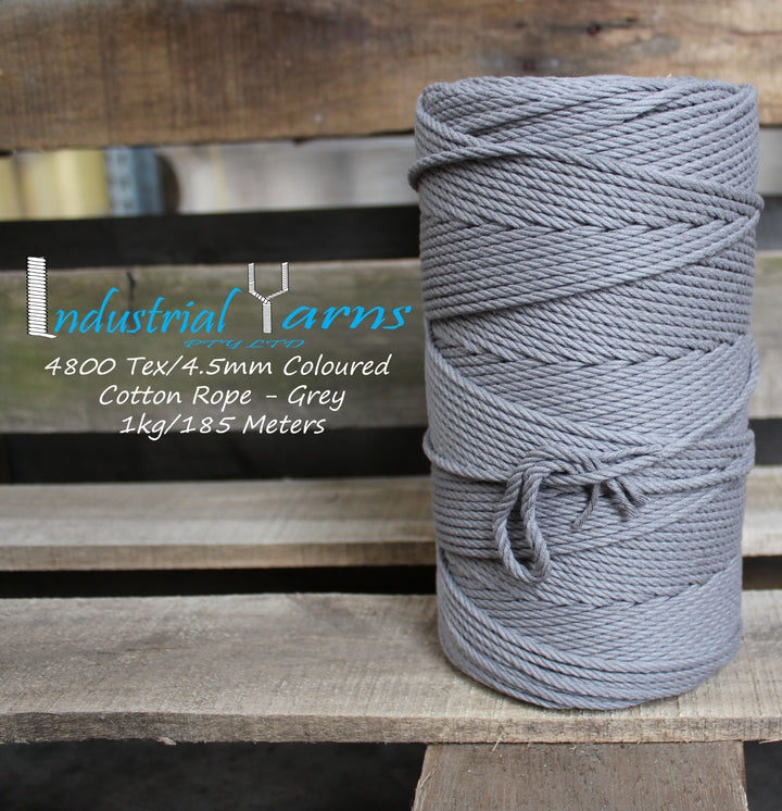 4.5mm Twisted Rope Grey