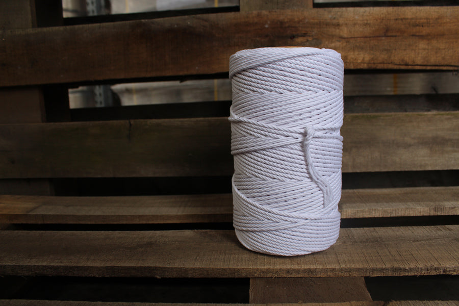 4.5mm Twisted Rope White