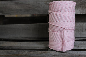 4.5mm Twisted Rope Pastel Pink