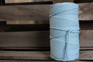 4.5mm Twisted Rope Pastel Blue