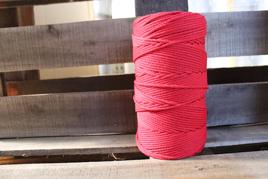 4.5mm Twisted Rope Red