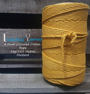 4.5mm Twisted Rope Mustard
