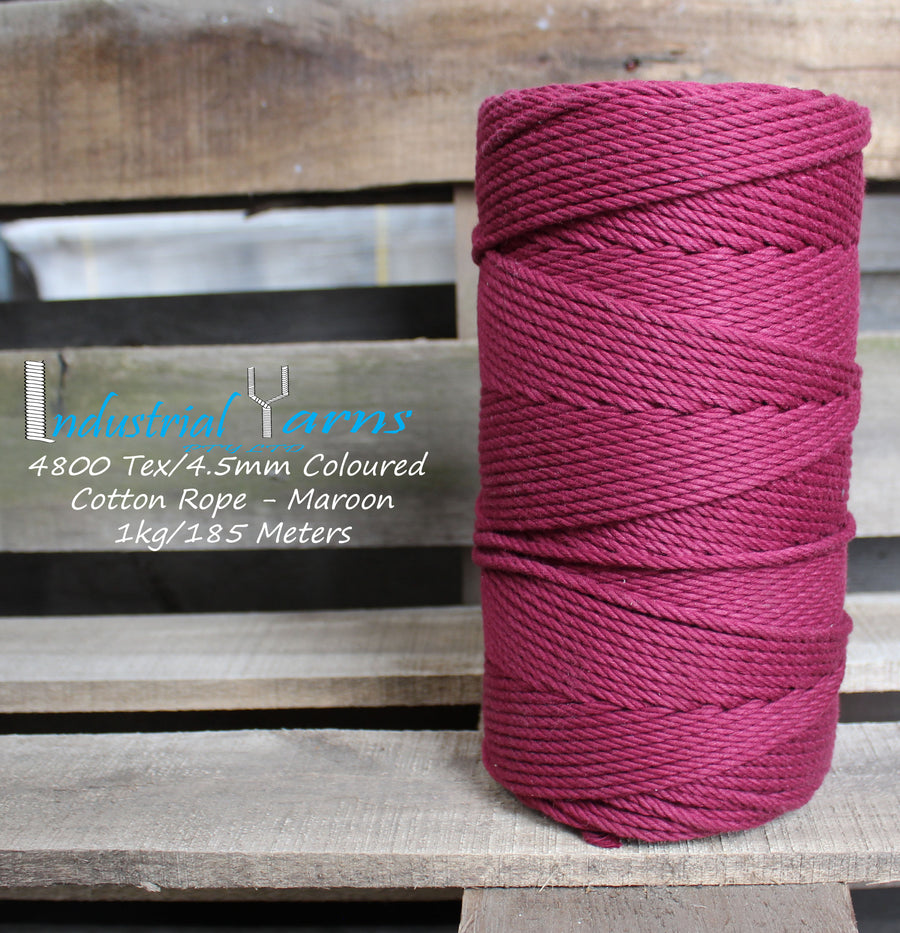 4.5mm Twisted Rope Maroon