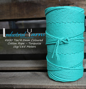 4.5mm Twisted Rope Turquoise
