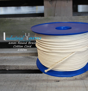 6mm Round Braid Cotton Cord 250 Meters