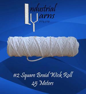 #2 Square Braid Wick Small Roll