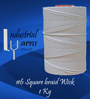 #6 Square Braid Wick Large Roll