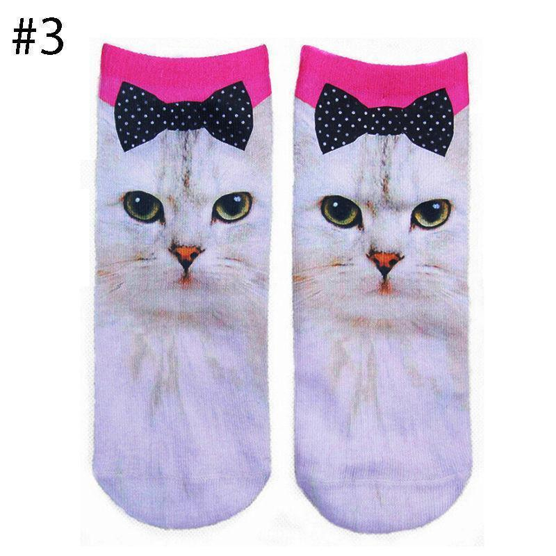 Low Cut Ankle Unisex Socks  with 3D Animal Print - Superdeals-Cart