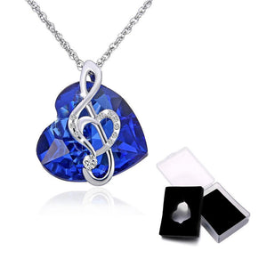 Heart of Music Crystal Necklace - Superdeals-Cart