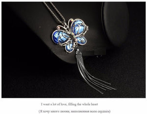 Butterfly Pendant Necklace - Superdeals-Cart