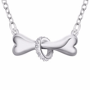 Silver Dog Bone Pendant Necklace - Superdeals-Cart