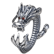 Load image into Gallery viewer, Solid 925 Sterling Silver Dragon Ring - Superdeals-Cart