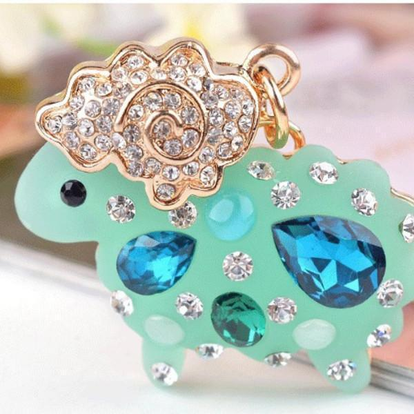 Colorful Rhinestone sheep Keychains - Superdeals-Cart