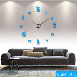 Large Wall Clocks with Cat Design - Superdeals-Cart