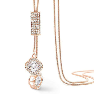 Classic Rhinestone Pendant Necklaces - Superdeals-Cart