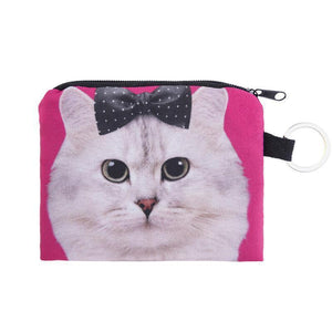 british cats Bag Coin purse ladies 3D printing Wallets For Womens Cat Pattern Female fashion cute small zipper bag  CP018 - Superdeals-Cart