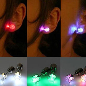 LED Light Up Solitaire Earrings - Superdeals-Cart