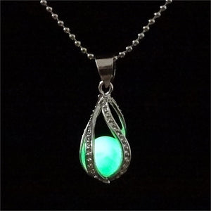 Luminous Stone Pendant Necklace - Superdeals-Cart