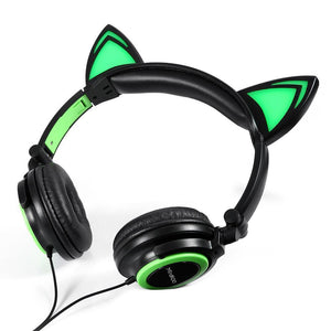 Glowing Cat Ears Headphones - Superdeals-Cart