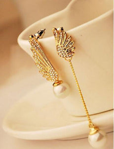 Gold Plated Angel Wing Earrings - Superdeals-Cart