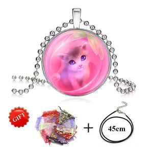 Glass Pendant Necklace - Superdeals-Cart