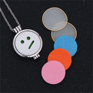 Emoji Face Aroma Diffuser Necklace - Superdeals-Cart