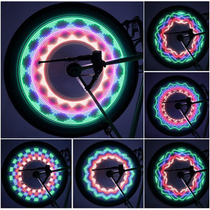 New Arrival Colorful Bicycle Lights Bike Cycling Wheel Spoke Light 32 LED 32-pattern Waterproof Drop Shipping - Superdeals-Cart