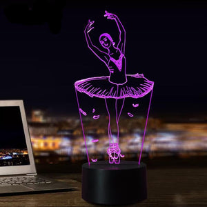 Gorgeous Ballerina 3D Night light Lamp - Superdeals-Cart