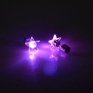 LED Light Up Glowing Star Earrings - Superdeals-Cart