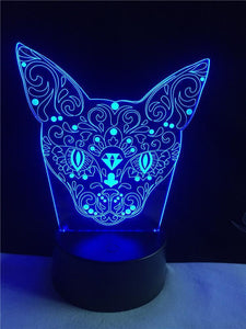 3D LED Kitten Night Light - Superdeals-Cart