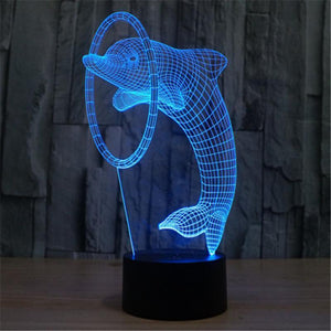 3D LED Night Light Dolphin - Superdeals-Cart