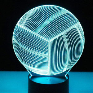 3D LED Volleyball Night Light - Superdeals-Cart