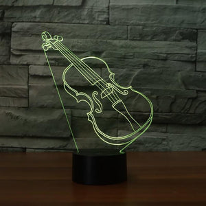 3D LED Violin Night Light - Superdeals-Cart
