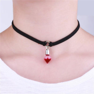 The Vampire Red Blood Glass Bottles Necklaces - Superdeals-Cart