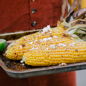 Molé Elote - Mexican Corn on the Cob