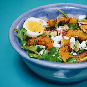 Roasted Molé Delicata Squash Salad with Warm Tangerine Dressing