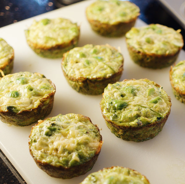 Green Mini Frittatas with Jamaican Jerk Spice Rub