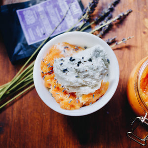ice cream lavender tea compote