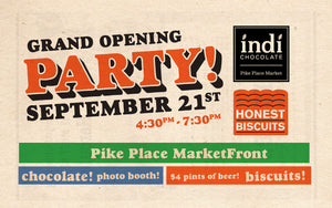 Honest Biscuits and indi chocolate Grand Opening Party!