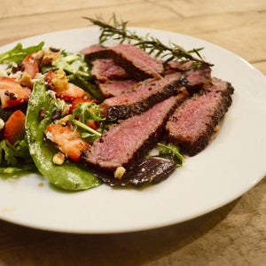 Jalapeño Sage Steak with Cacao Nib Salad