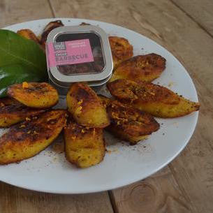 Fried Plantain with indi chocolate Barbecue Spice Rub