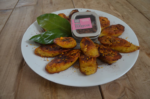 fried Plaintain with barbecue spice ru