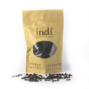 indi chocolate Cacao Nibs are great for enjoying right out of the bag, in the many recipes on our website, and adding to your favorite foods like ice cream, yogurt, salads and more. Nibs can also be used with the Chocolate Refiner to make your own chocolate at home and are included in our Virtual Make Chocolate at Home Master Class.