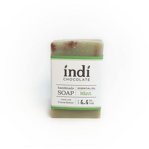 Chocolate Mint Gift Set  from  indi chocolate also includes a bar of chocolate mint soap